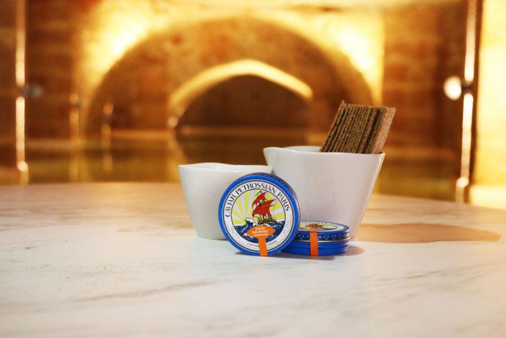 Produits de la maison Pétrossian - 50gr Caviar Osciètre et ses condiments